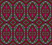 Naadloze rode violette lilac groen van ellipsenornamenten Stock Fotografie