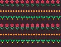 Naadloze roze bloemen, bladerenpatroon Royalty-vrije Stock Afbeelding