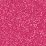 Naadloze roze bloemenachtergrond Stock Foto