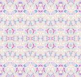 Naadloze roze turkooise grijs van het zigzagpatroon Stock Foto's