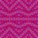 Naadloze rozerode violette purple van het ellipsenpatroon Stock Afbeelding