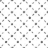 Naadloze ruitvormige zwart-witte achtergrond Stock Afbeelding