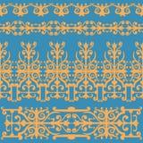 Naadloze rustieke deco met het ornament van het kantpatroon Stock Afbeeldingen