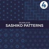 Naadloze Sashiko-patronen stock illustratie