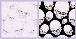 Naadloze schedel als achtergrond Stock Afbeelding