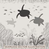 Naadloze schildpadvissen stock illustratie