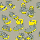 Naadloze schoenen Royalty-vrije Stock Foto's