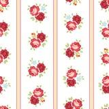 Naadloze Sjofele Elegante Rose Pattern stock illustratie