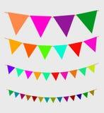 Naadloze slinger met vieringsvlaggen royalty-vrije illustratie