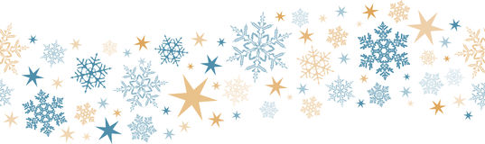 Naadloze sneeuwvlok, stergrens Stock Foto's