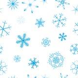 Naadloze sneeuwvlokachtergrond Royalty-vrije Stock Foto