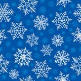 Naadloze sneeuwvlokken Stock Foto's