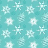 Naadloze sneeuwvlokken Stock Afbeelding