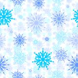 Naadloze sneeuwvlokken Stock Foto