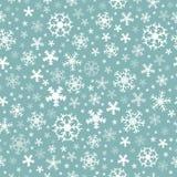 Naadloze sneeuwvlokken als achtergrond 5 Royalty-vrije Stock Afbeelding
