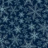 Naadloze sneeuwvlokkenachtergrond Stock Afbeelding