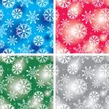 Naadloze sneeuwvlokkenbackgro Stock Afbeeldingen