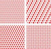 Naadloze sterren eenvoudige texturen. Royalty-vrije Stock Fotografie