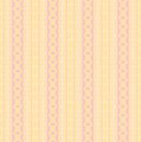 Naadloze strepen en het gele roze viooltje van het diamantpatroon Royalty-vrije Stock Afbeeldingen