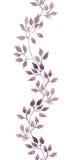 Naadloze strookgrens - hand geschilderde waterverfbladeren Herhaald patroon stock illustratie
