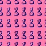 Naadloze suikergoeddruk op roze achtergrond stock illustratie