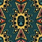 Naadloze Techno Art Pattern voor Textielontwerp stock illustratie