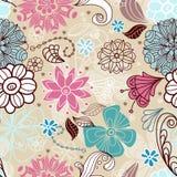 Naadloze tedere bloemenachtergrond Stock Foto