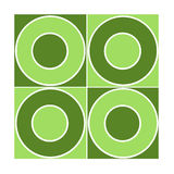 Naadloze tegel met groene cirkels Stock Fotografie