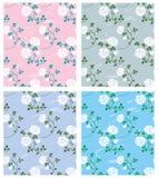 naadloze texturen met rozen Stock Foto