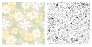 naadloze texturen van bloemen Royalty-vrije Stock Afbeeldingen
