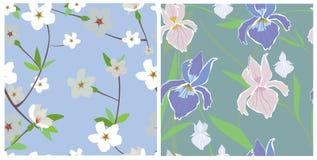 naadloze texturen van bloemen Royalty-vrije Stock Foto