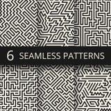 Naadloze texturen van de Techno de grafische lijn Moderne het ontwerpachtergronden van de strepenmanier royalty-vrije illustratie