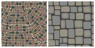 Naadloze texturen van stenen Stock Foto's