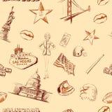 Naadloze textuur Amerika de V.S. Royalty-vrije Stock Fotografie