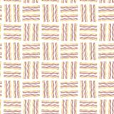 Naadloze textuur De teller van de golflijn Geel, oranje, bruin stock illustratie