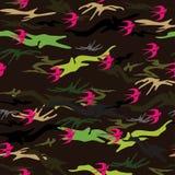naadloze textuur in de vorm van militair` s camouflage vector illustratie