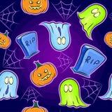 Naadloze textuur eng op Halloween Royalty-vrije Stock Afbeeldingen