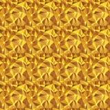 Naadloze textuur gouden driehoek Stock Foto