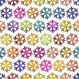 Naadloze textuur kleurrijke sneeuwvlok Royalty-vrije Stock Fotografie