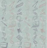 Naadloze textuur met abstract patroon op onderwijs of zaken Royalty-vrije Stock Afbeeldingen