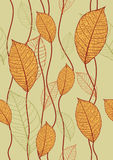 Naadloze textuur met bladeren Royalty-vrije Stock Afbeeldingen