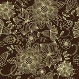 Naadloze textuur met bloemen Stock Afbeelding