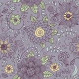 Naadloze textuur met bloemen Stock Foto's