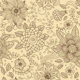 Naadloze textuur met bloemen Royalty-vrije Stock Foto