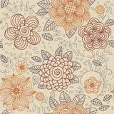 Naadloze textuur met bloemen Stock Afbeeldingen