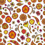 Naadloze textuur met bloemen Royalty-vrije Stock Fotografie