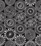 Naadloze textuur met bloemenornament Stock Afbeeldingen