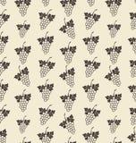Naadloze Textuur met Bos van Druif, Uitstekend Patroon Stock Afbeeldingen