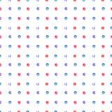 Naadloze textuur met cirkels Stock Afbeeldingen