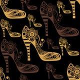 Naadloze textuur met decoratieve schoenen 15 Royalty-vrije Stock Fotografie
